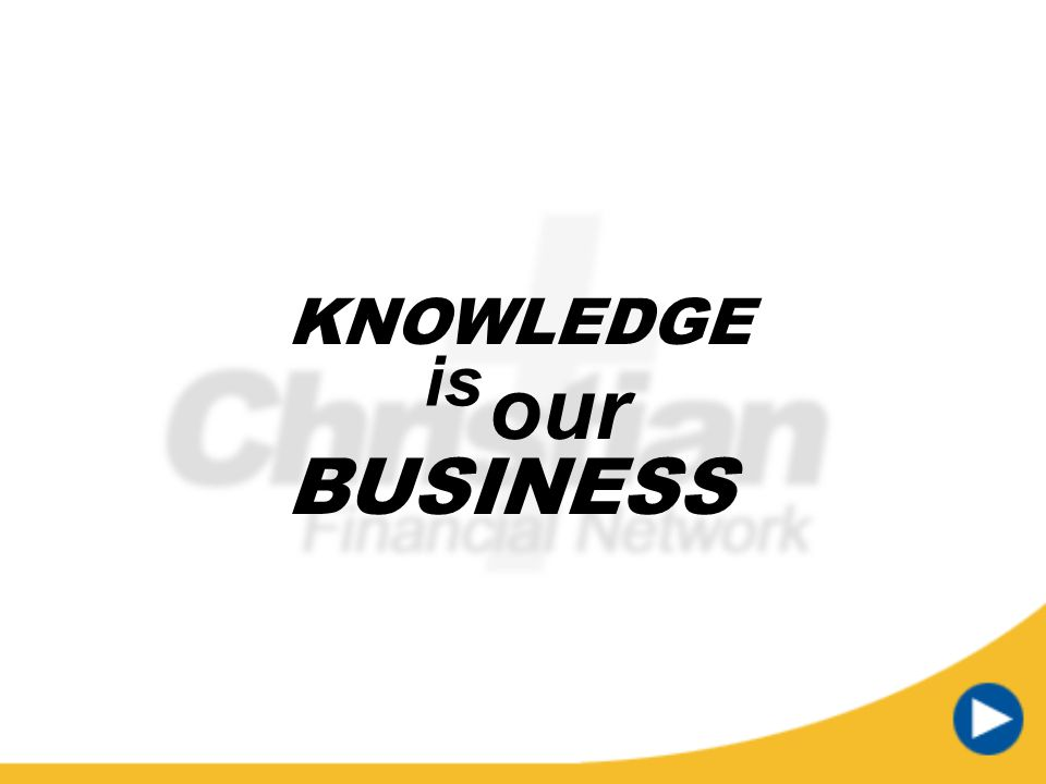 KNOWLEDGE is our BUSINESS Timer text