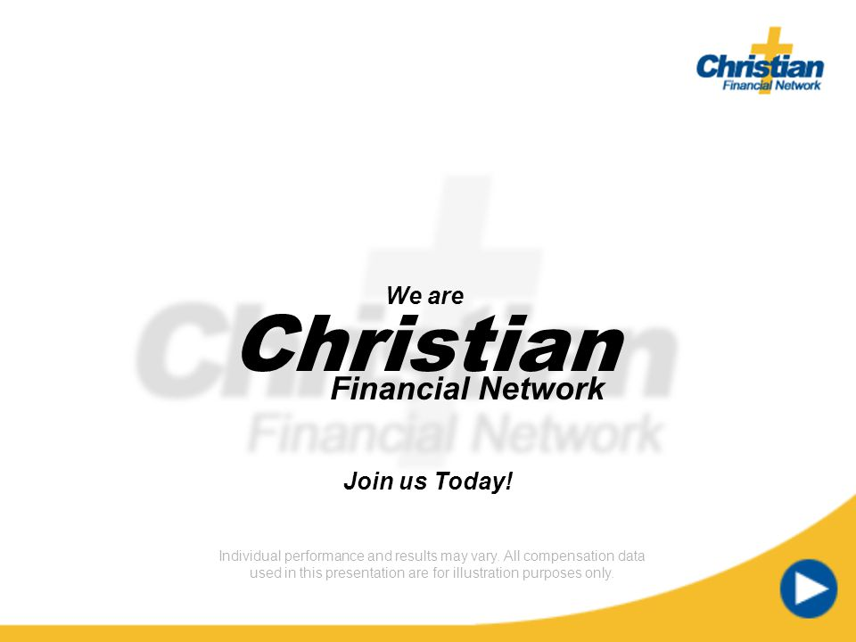 Christian Financial Network Timer text Timer text We are