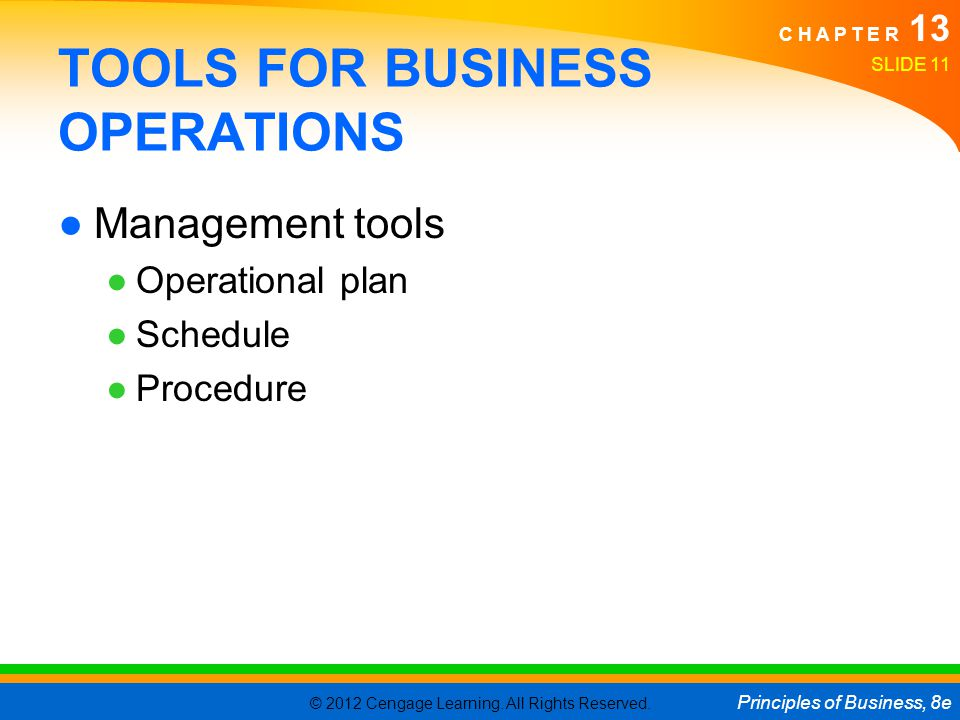 TOOLS FOR BUSINESS OPERATIONS