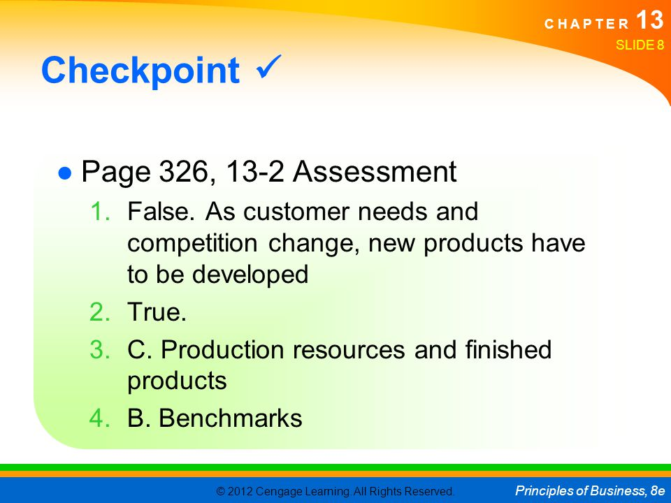 Checkpoint  Page 326, 13-2 Assessment