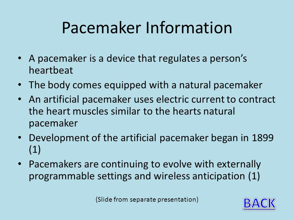 Pacemaker Information