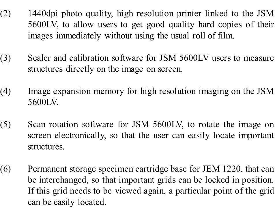 (2). 1440dpi photo quality, high resolution printer linked to the JSM