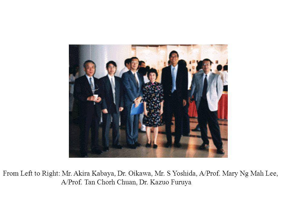 From Left to Right: Mr. Akira Kabaya, Dr. Oikawa, Mr.