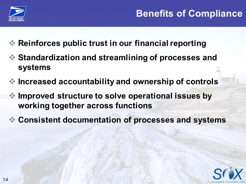 Benefits of Compliance