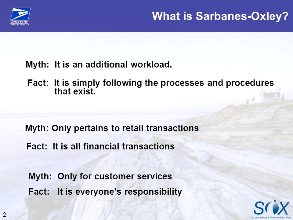 What is Sarbanes-Oxley