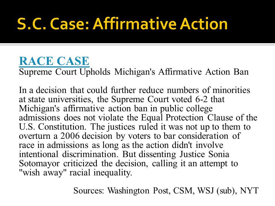 S.C. Case: Affirmative Action