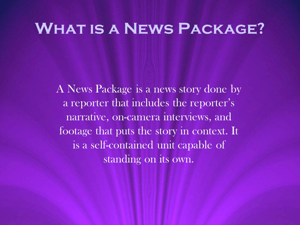 What is a News Package