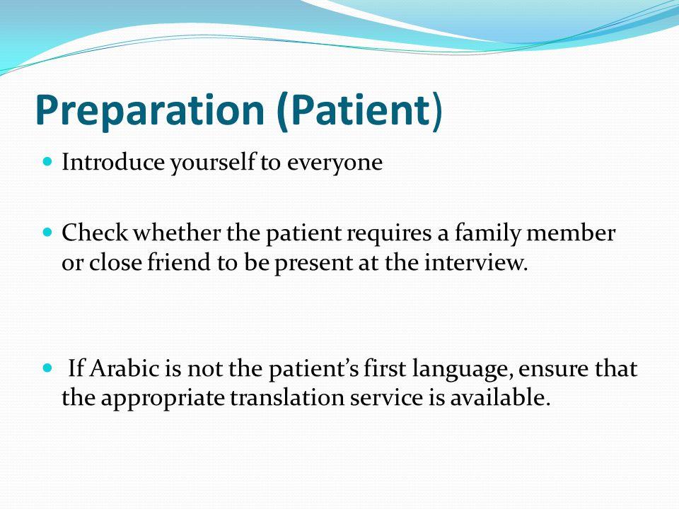 Preparation (Patient)