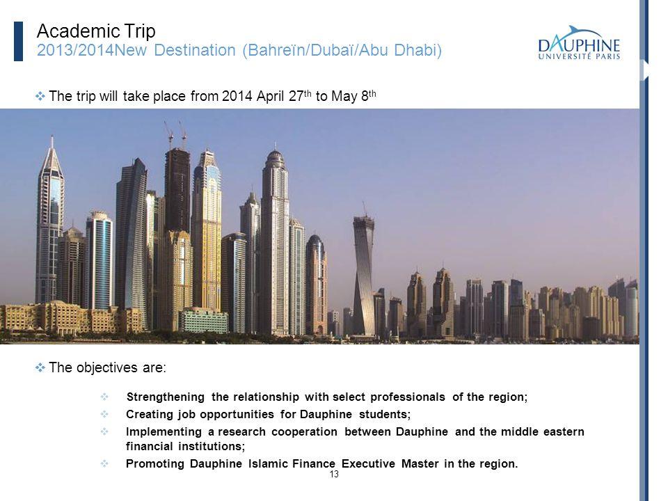 Academic Trip 2013/2014New Destination (Bahreïn/Dubaï/Abu Dhabi)