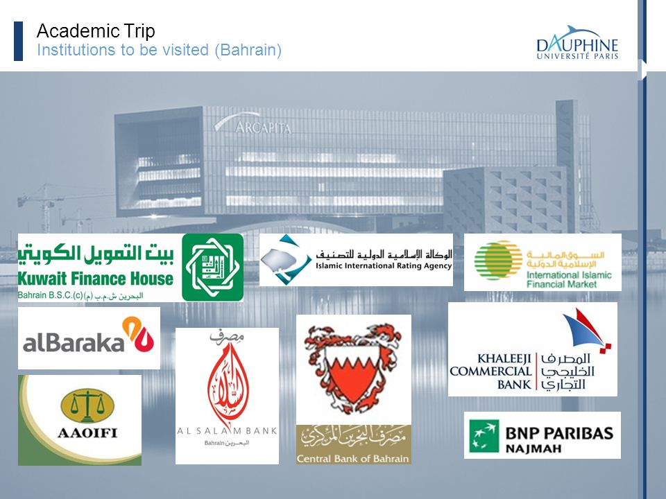 Academic Trip Institutions to be visited (Bahrain)