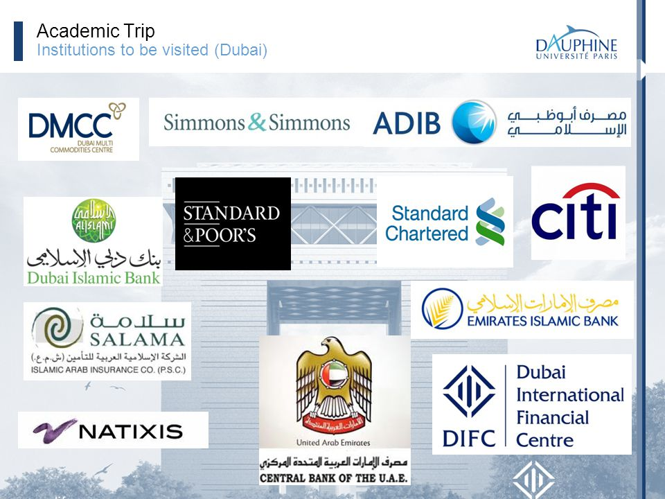 Academic Trip Institutions to be visited (Dubai)
