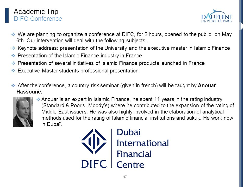 Academic Trip DIFC Conference