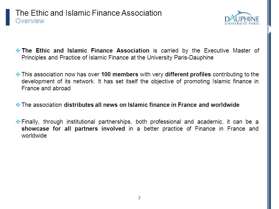 The Ethic and Islamic Finance Association Overview