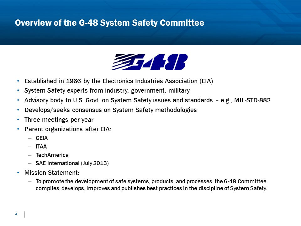 Overview of the G-48 System Safety Committee