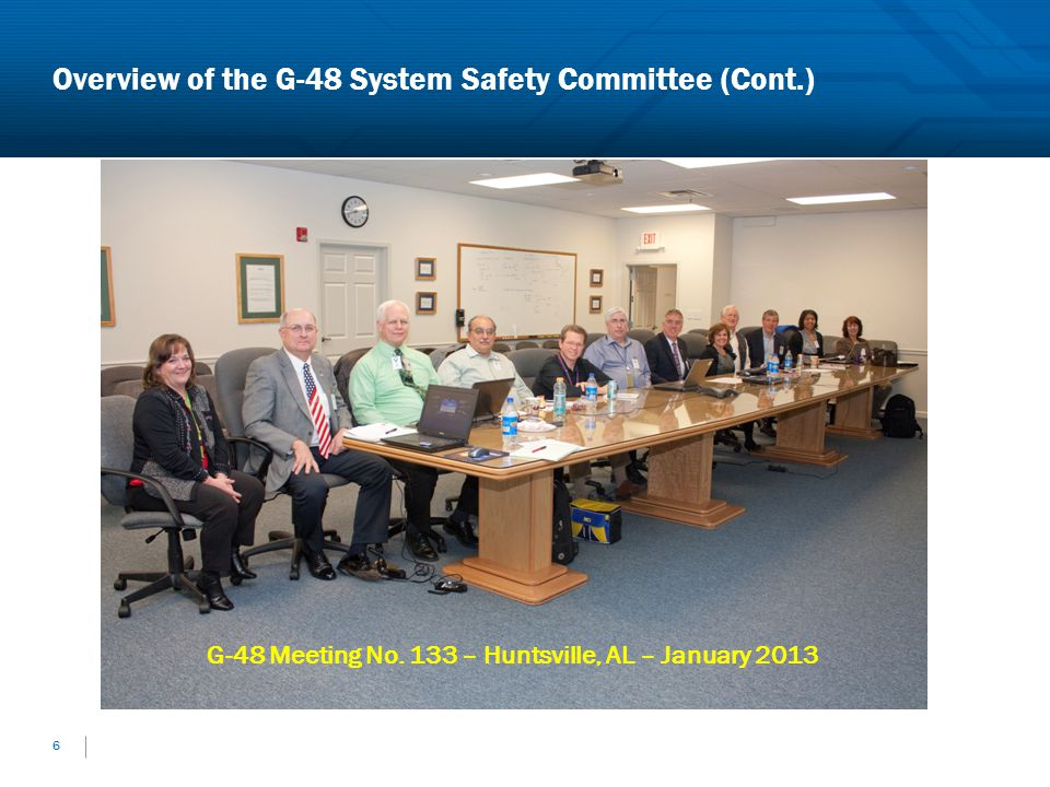 Overview of the G-48 System Safety Committee (Cont.)