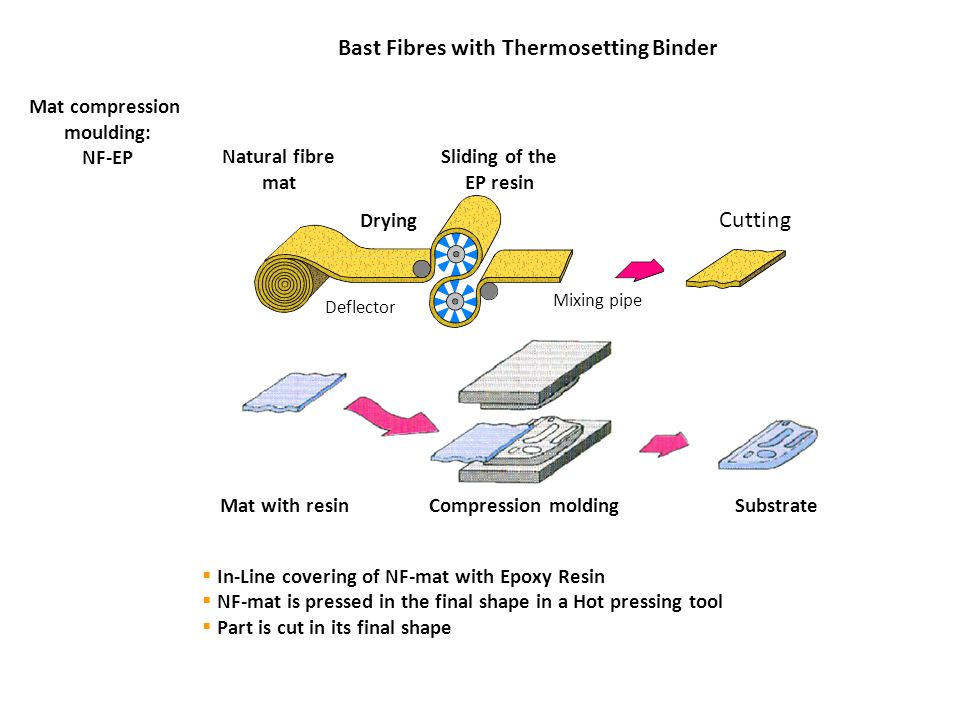 Bast Fibres with Thermosetting Binder