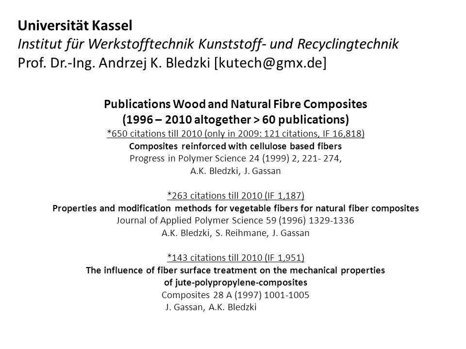 Publications Wood and Natural Fibre Composites