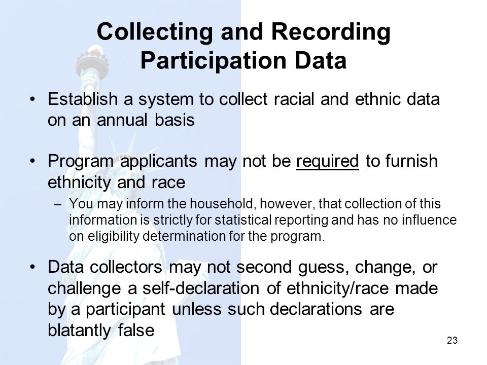 Collecting and Recording Participation Data