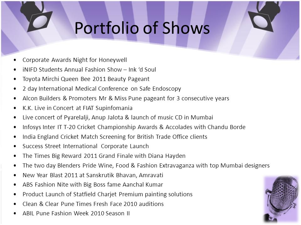 Portfolio of Shows