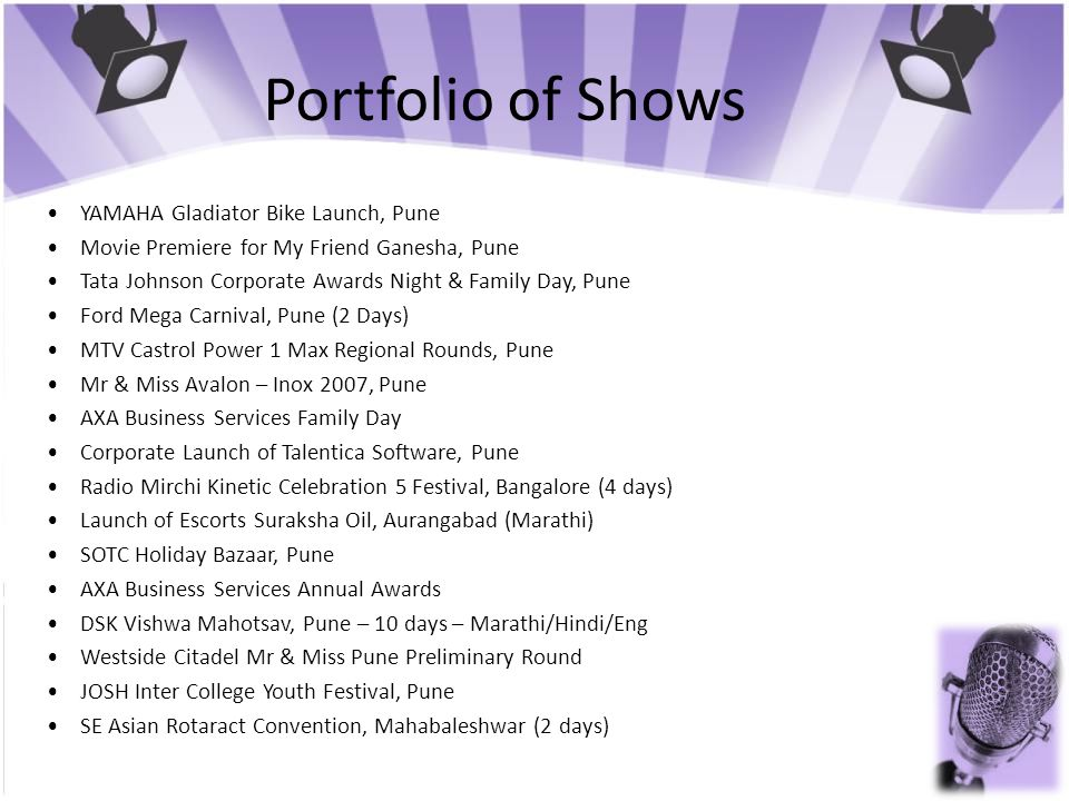 Portfolio of Shows • YAMAHA Gladiator Bike Launch, Pune