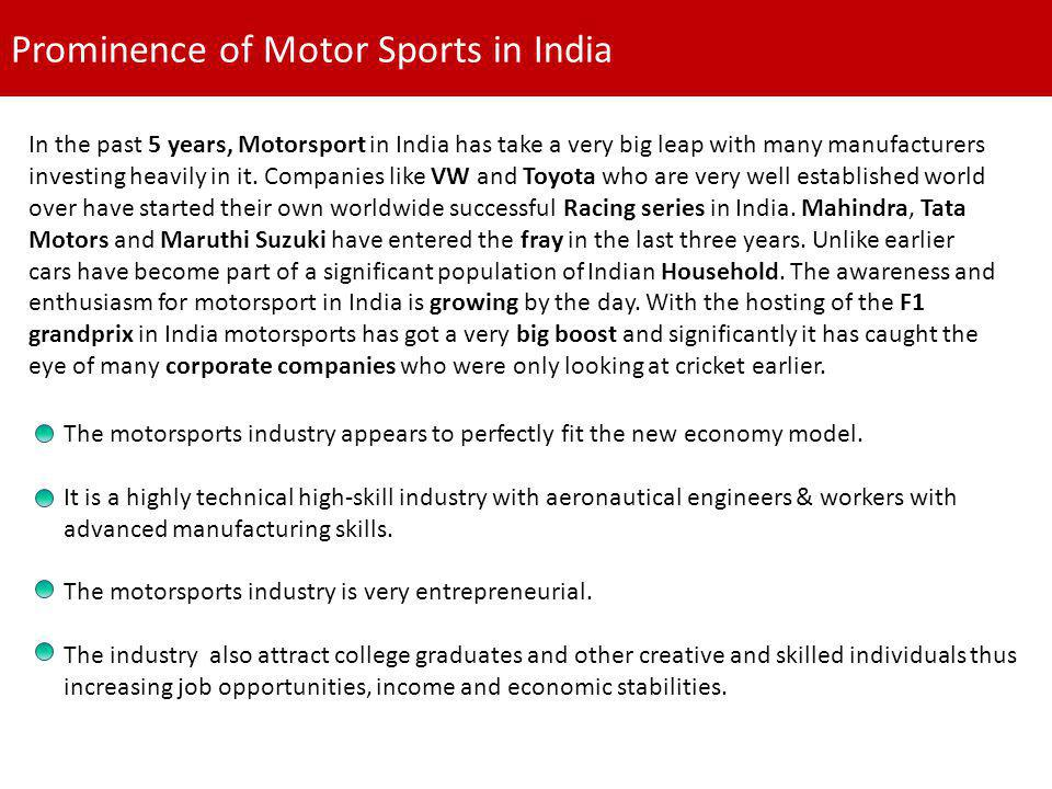 Prominence of Motor Sports in India