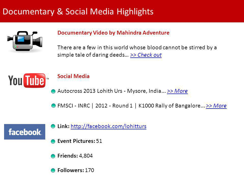 Documentary & Social Media Highlights