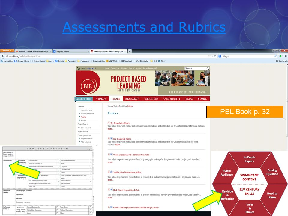 Assessments and Rubrics