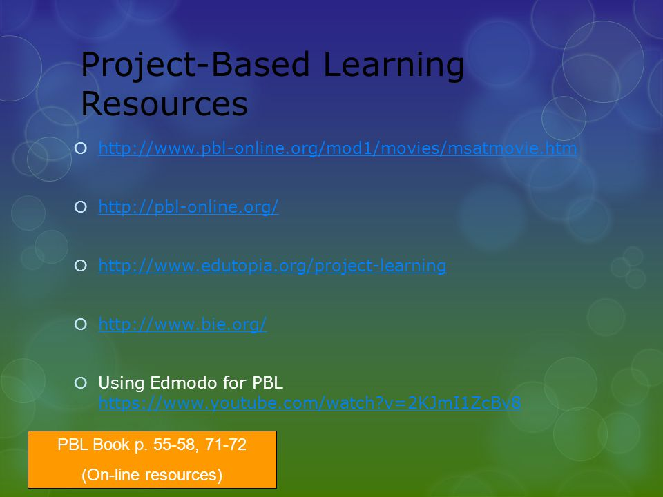 Project-Based Learning Resources