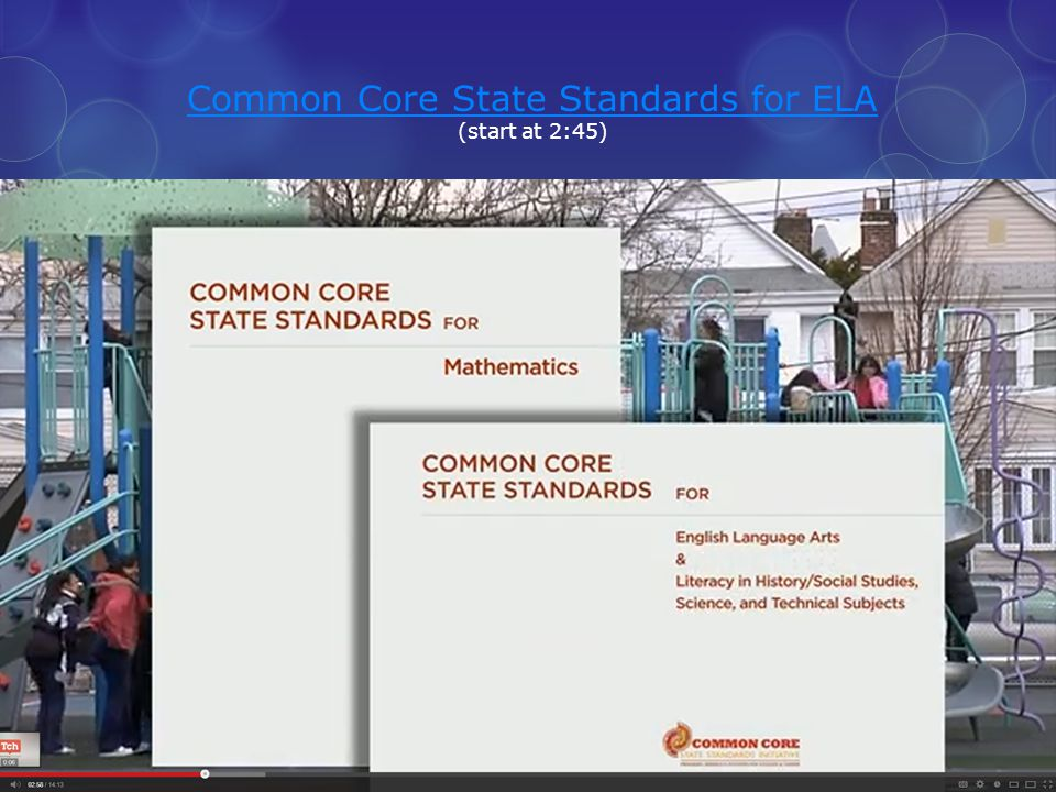 Common Core State Standards for ELA