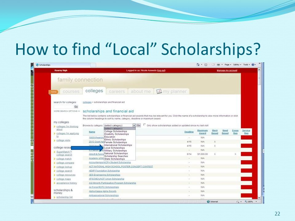 How to find Local Scholarships