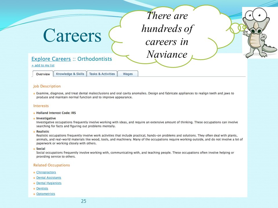 There are hundreds of careers in Naviance