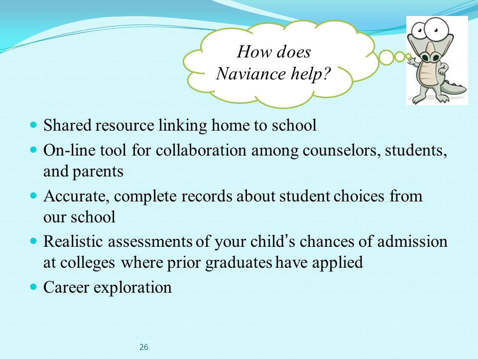 How does Naviance help Shared resource linking home to school