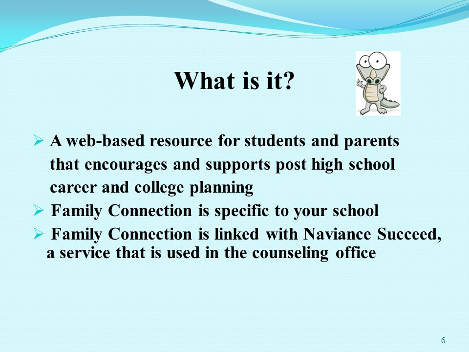 What is it A web-based resource for students and parents