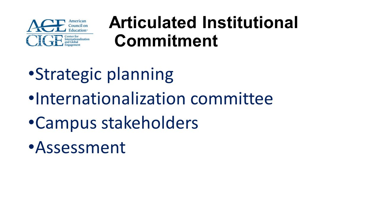 Articulated Institutional Commitment