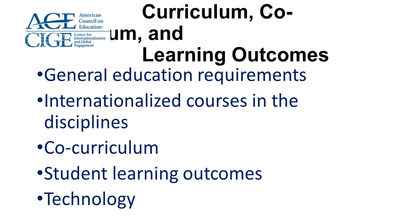 Curriculum, Co-Curriculum, and Learning Outcomes