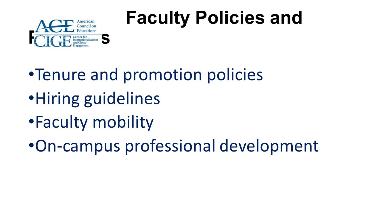 Faculty Policies and Practices