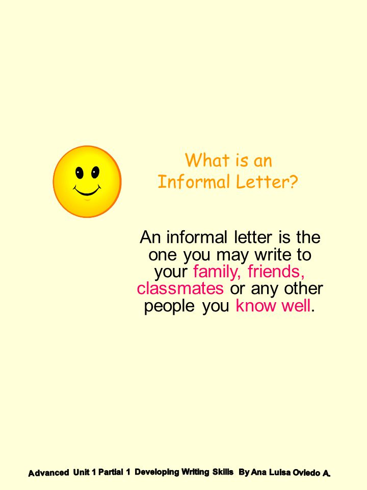 What is an Informal Letter
