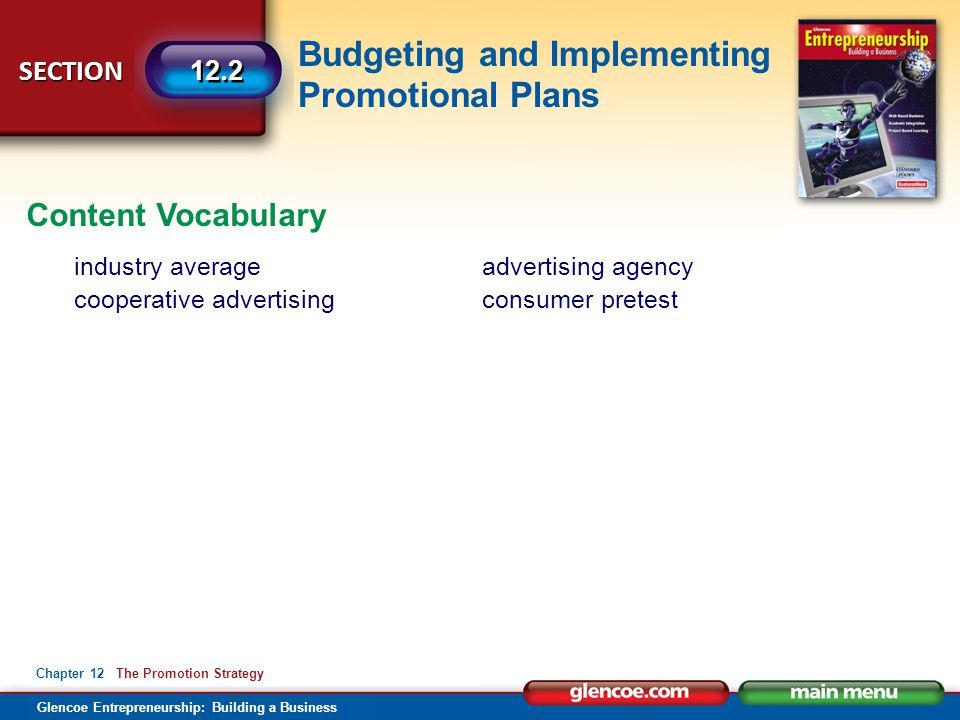 Content Vocabulary industry average cooperative advertising