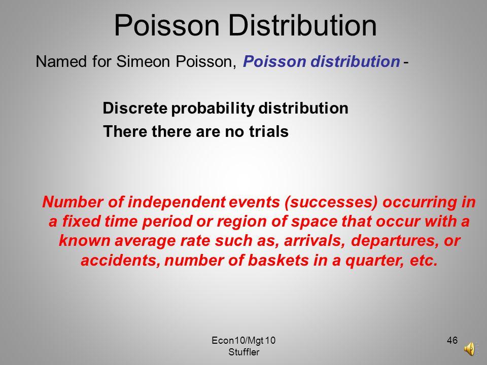 Poisson Distribution Named for Simeon Poisson, Poisson distribution -