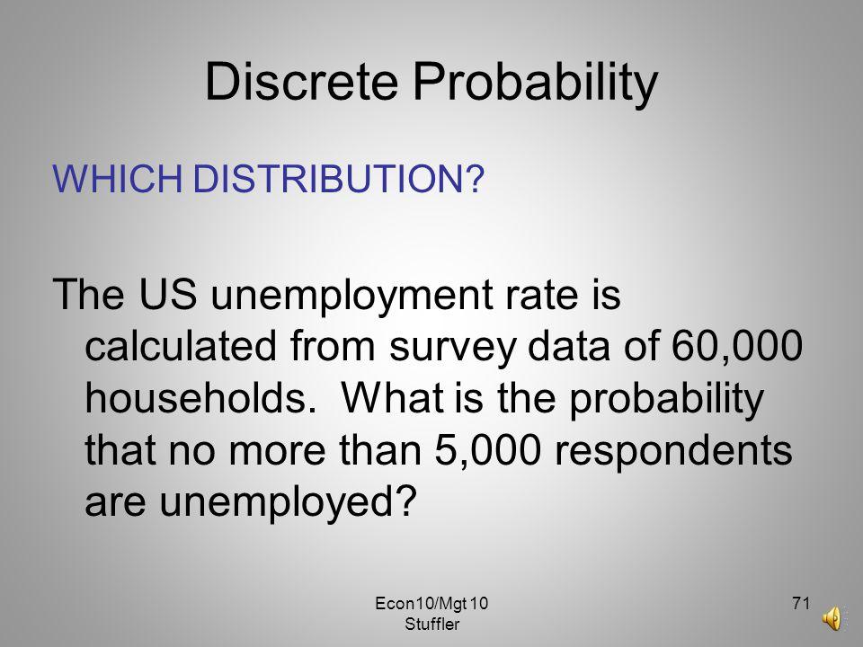 Discrete Probability WHICH DISTRIBUTION