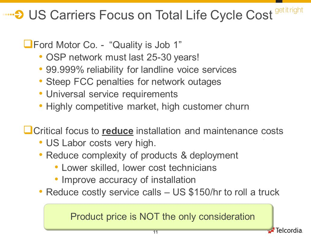 US Carriers Focus on Total Life Cycle Cost