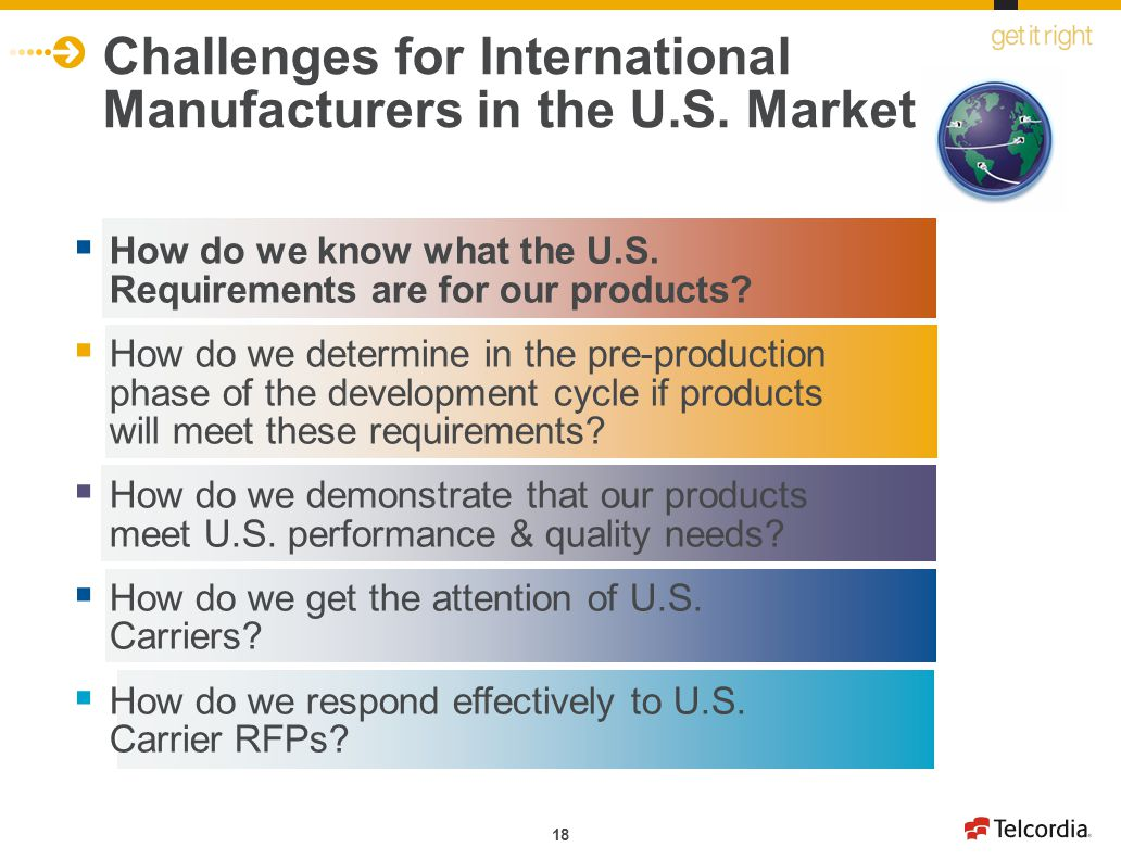 Challenges for International Manufacturers in the U.S. Market