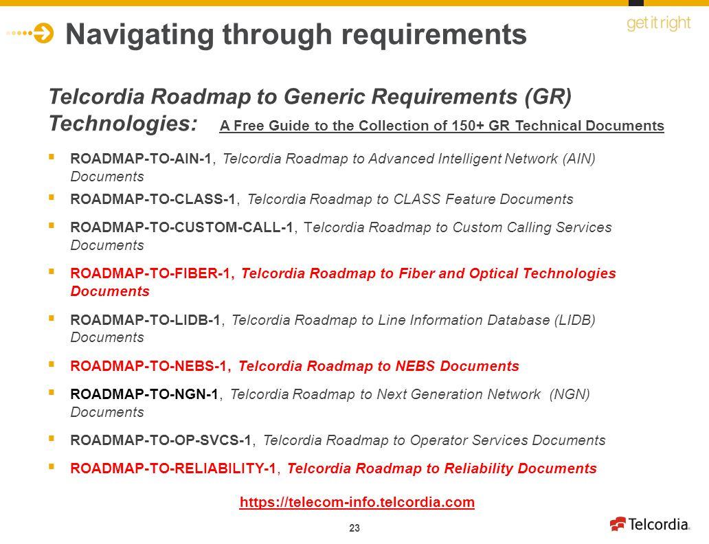 Navigating through requirements