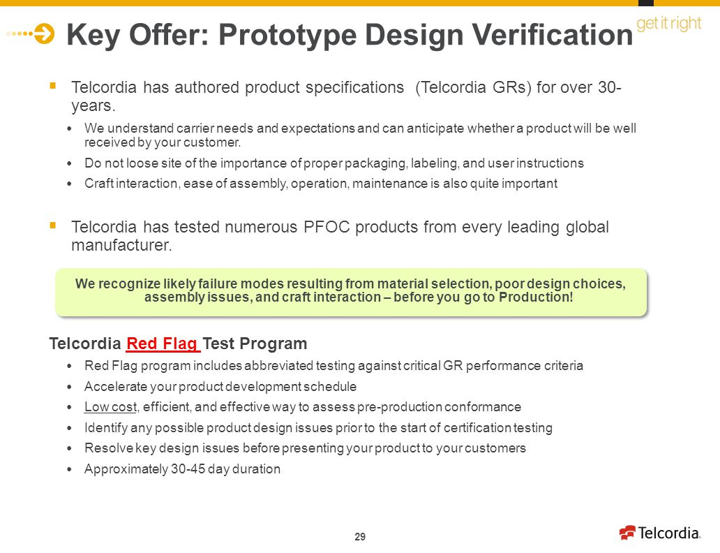 Key Offer: Prototype Design Verification