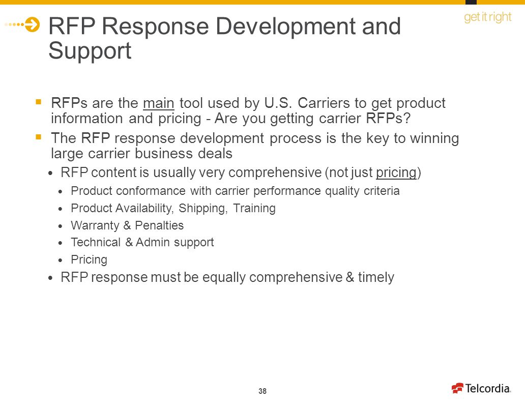 RFP Response Development and Support