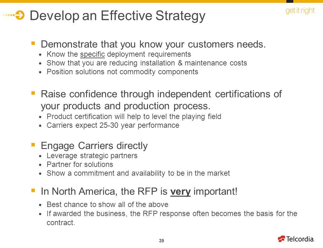 Develop an Effective Strategy