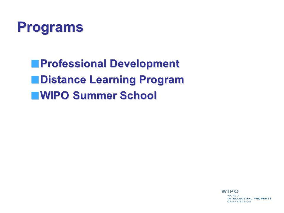 Programs Professional Development Distance Learning Program