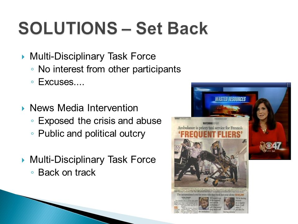 SOLUTIONS – Set Back Multi-Disciplinary Task Force