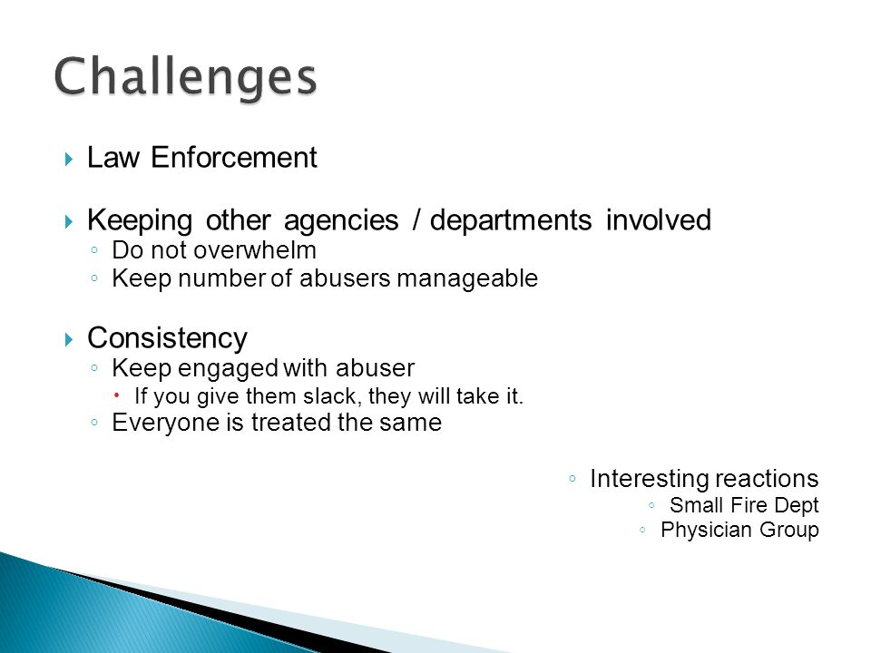 Challenges Law Enforcement