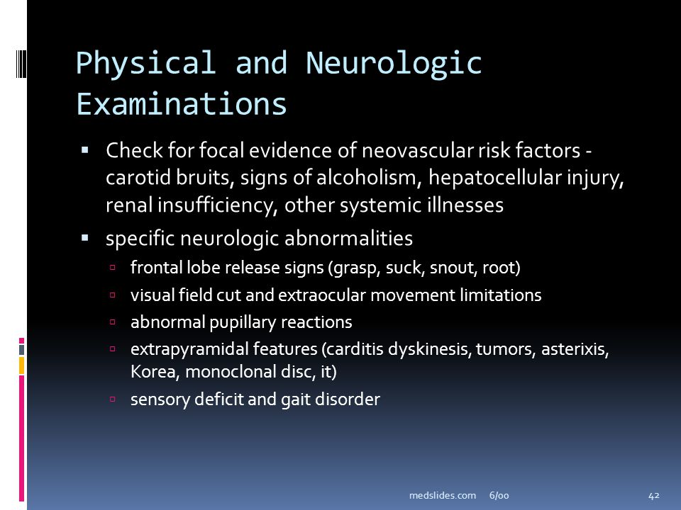 Physical and Neurologic Examinations